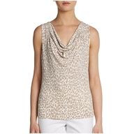 calvin klein womens cheetah blouse