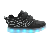 bulk led children black sneaker