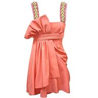 pink beaded short junior cocktail dress