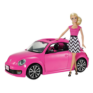 barbie with pink car