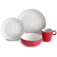 wholesale baum red dinnerware set