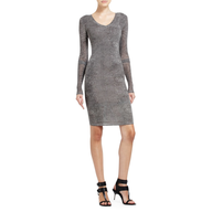 bcbg grey dress
