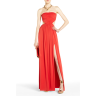 bcbg orange maxi dress