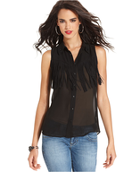 beaded fringe top