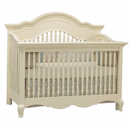 beige baby crib shelf pulls