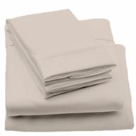 beige sheets bed