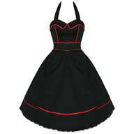black red womens dress