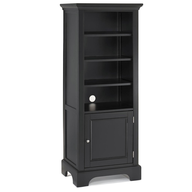 black tall wall unit