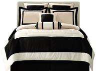 black white comforter