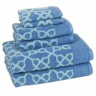 blue design towel set