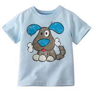 blue dog childrens shirt
