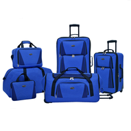 blue multi luggage
