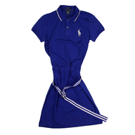 wholesale blue polo dress