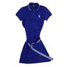 wholesale liquidation blue polo dress