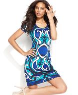 blue print dress