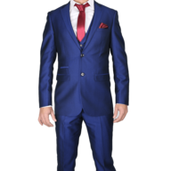 discount blue red two piece mens suit