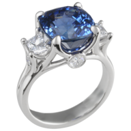 clearance blue silver ring