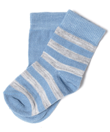 blue white baby socks