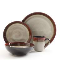 brown dishes set