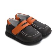 children brown orange shoes
