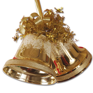 christmas gold bells