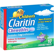wholesale liquidation claritin chewables kids