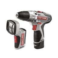 craftsmans poweder drill with flashlight