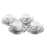 cup set silver white