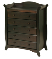 dark brown nursey dresser