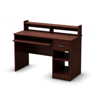 dark brown small office desk