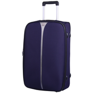 dark purple suitcase