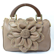 liquidation flower beige handbag