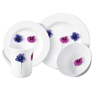 flowers white plate closeouts