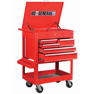 liquidation glossy red tool cart