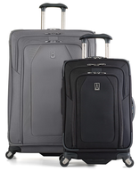 gray and black luggage
