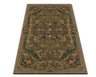 green brown rug