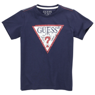 guess blue navy shirt