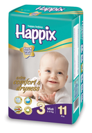 happix midi diapers closeouts