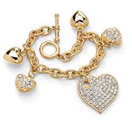 heart charm gold bracelet