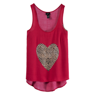 clearance heart top rue 21