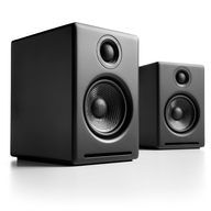 hi fi black speakers