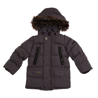 kids black stadium coat