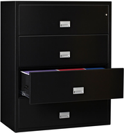 lateral file cabinet black