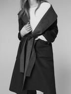 wholesale liquidation massimo dutti reversible hooded coat