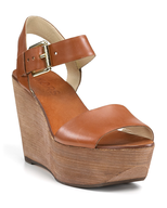 michael kors brown wedge