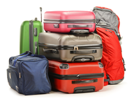 multi color luggage closeouts