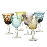 wholesale liquidation multi color wine glasses