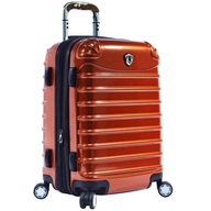 orange hard luggage