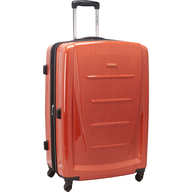 orange hardside luggage