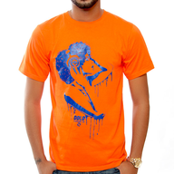 orange mens shirt